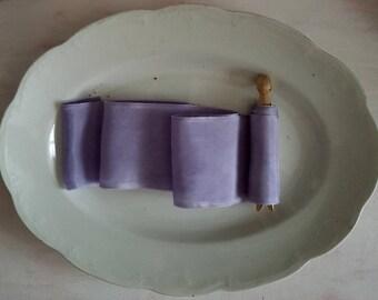 Lavender Habotai Silk Ribbon