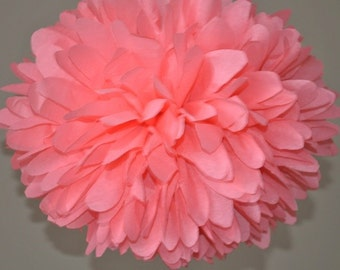 Coral Tissue Paper Pom Poms, Coral Bridal Shower Party Decorations, Coral Wedding Decorations, Baby Shower, Bachelorette Party