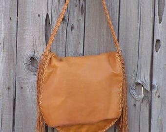 Large leather shoulder bag , Designer handbag , Large leather purse , Ready to ship