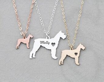 Schnauzer Necklace • Dog Gift • Custom Dog Necklace • Dog Lover Gift • Gold Dog Pendant • Schnauzer Gift Pet Gift Schnauzer Charm