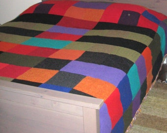 Warm, Cozy, Hand-Made, Recycled Wool-Sweater Quilts