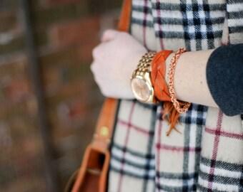 Pure Copper Byzantine Chainmaille Bracelet for Men & Women