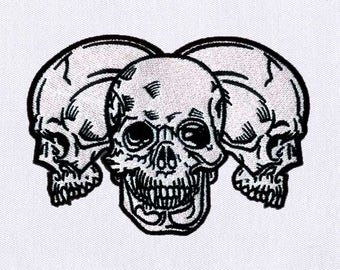 Dangerously Haunting Skulls Machine Embroidery Design