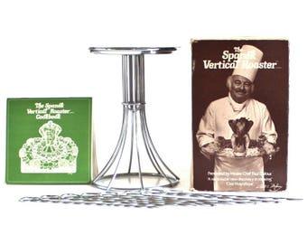 Spanek Vertical Roaster, Self Basting Wire Roasting Rack, Shish Kabob Skewers, Chicken Roaster, 1970s Kitchen Gadgets, Paul Dufour