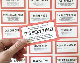 READY TO SHIP / 52 Sex Coupons / Kinky Sex Cards / Sex Cards / 52