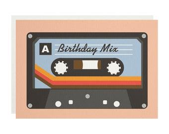 Birthday Mix Tape Greetings Card