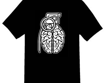 Grenade Brain Tee Shirt 08162017