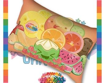 Kawaii Universe - Cute Classic Fruits Group Designer Sleep Pillow