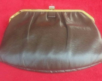 Vintage Mardane handbag in brown leather