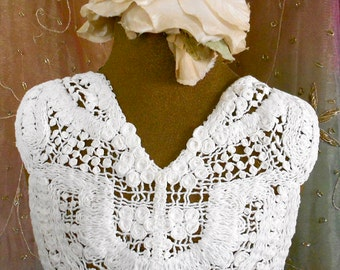 White Crocheted Butterfly Appliques