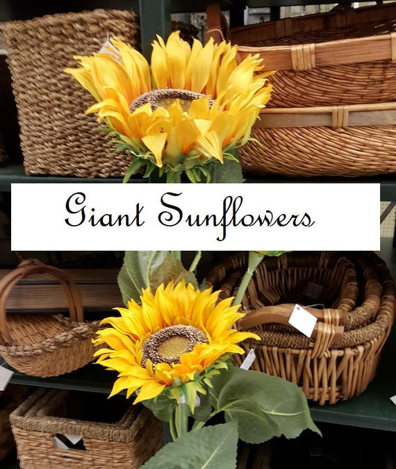 Giant silk sunflowers 48 h gorgeous very large sunflower one giant silk sunflowers 48 h gorgeous very large sunflower one pair country woodland western wedding decor from naturepreserved on etsy studio mightylinksfo