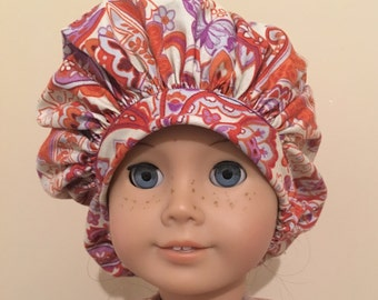 Doll bonnet pattern, Doll bonnet PDF, Doll hat pattern, Doll hat PDF, Bonnet Pattern, Medical Hat Pattern, Scrubs Hat Pattern PDF
