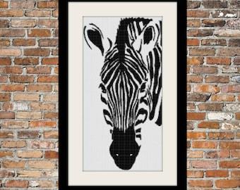 Zebra II - a Counted Cross Stitch Pattern