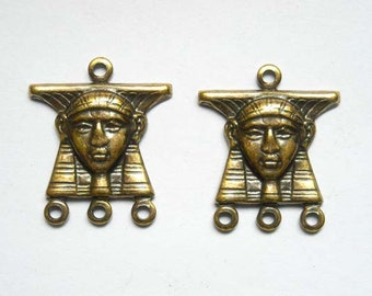 2 Egyptian 3 Ring Connectors - 1-72