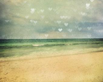 beach photography ocean wall art beach home decor blue decor beige decor Beach Love