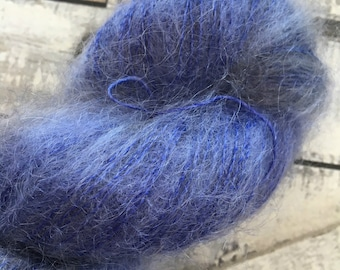 Variegated Hand Dyed Yarn-HANGING THE STARS-Hairy Toad-50 gr mohair yarn-72 Kid Mohair, 28 Silk-459 yards-Toad Hollow Yarn-Indie Dyed Yarns