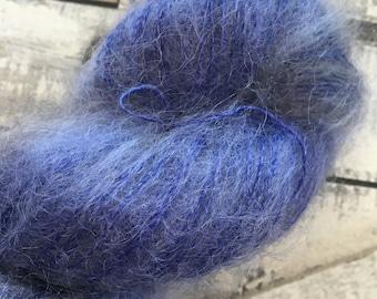 Panaché de fil teint à la main à suspendre les étoiles-poilu crapaud-50 gr mohair laine-72 Kid Mohair, 28 yards de soie-459-Toad Hollow fil-Indie teint des fils