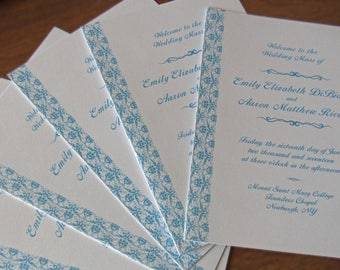 downloadable inserts for catholic wedding programs not