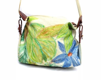 Mulberry Floral Pattern Canvas Hobo Bag - Crossbody Bag