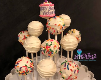 Birthday Dozen with mini cake Cake Pop Gift Box