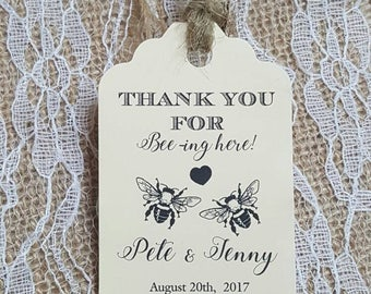 """Personalized Favor Tags 2.5""""L x1.8""""wWedding tags, Thank You tags, Favor tags, Gift tags, Bridal Shower Favor Tags, meant to bee, meant to be"""