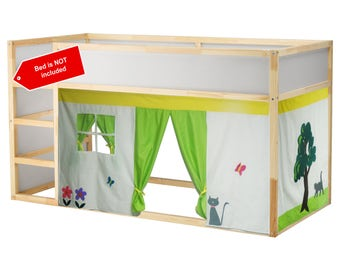 The little house Bed tent / Loft bed curtain - free design and colors customization