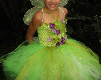 Tinkerbell tutu dress, Tinkerbell dress, Tinkerbell costume, green fairy tutu dress, Tinker fairy dress, Tinkerbell birthday dress