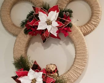 Rustic Christmas Mickey