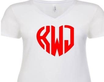 Heart Monogram T-shirt