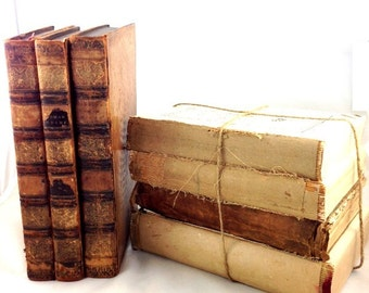 Antique & Vintage Books By the Bundle Set of Four Tied with String Ready for Farmhouse or French Decorating