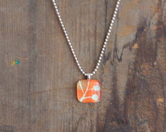 Coral and Sky Necklace