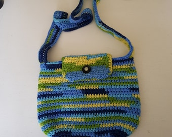 Blue/green mixed colour bag