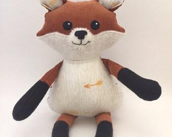 Stuffed Fox Cub; fox stuffed animal; Happy Fox Doll; stuffed animal, fox toy