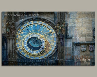 Prague Astronomical Clock Canvas