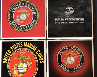 Marine Corp coaster set
