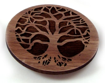 Tree of Life Sustainable Wooden Magnet - Walnut Refrigerator Magnet