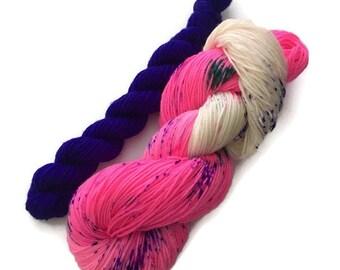 Hand dyed Fingering Merino Nylon Superwash extra fine wool