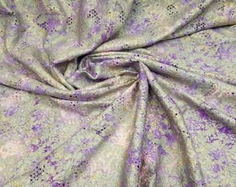Lace cording metallic tie die italy stretch /purple