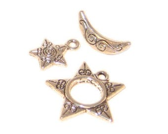 20mm Silver Toggle Clasp, plus Charm