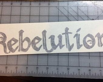 Rebelution Vinyl Decal