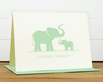 Personalized Stationery Set / Personalized Stationary Set - DEAREST Custom Personalized Note Card Set - Baby Shower Thank You Card Kids