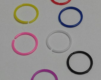 1 Acrylic Nose Ring - 8 Colours