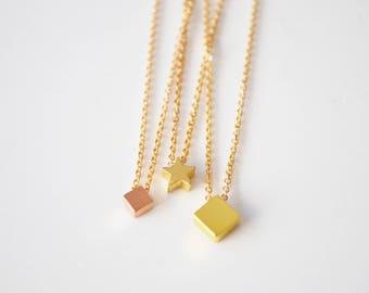 Gold Layering Necklace, Tiny Necklace, Tiny Gold Necklace, Tiny Star Necklace, Simple Necklace, Dainty Gold necklace, Dainty Necklace Gold.