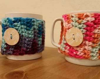 Mug Cozy with Button Accent