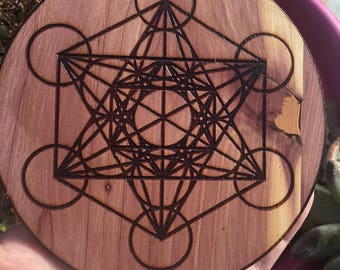 "Metatron's Cube Crystal Grid 5"" Magic Altar Ceremony Sacred Geometry"