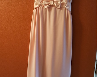 Darling Vintage Pink Dress with Bow