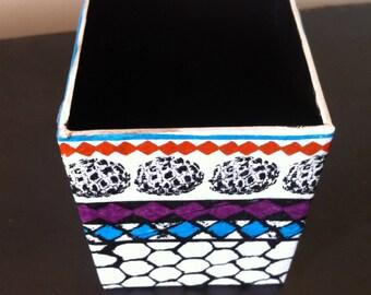 Paper mache - Decor patterns wax pencil holder