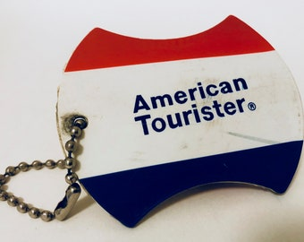 Vintage American Tourister luggage tag