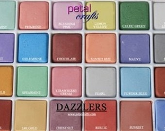 Petal Dust Palette 24 DAZZLER COLOURS edible Craft sugar flowers cake decorating