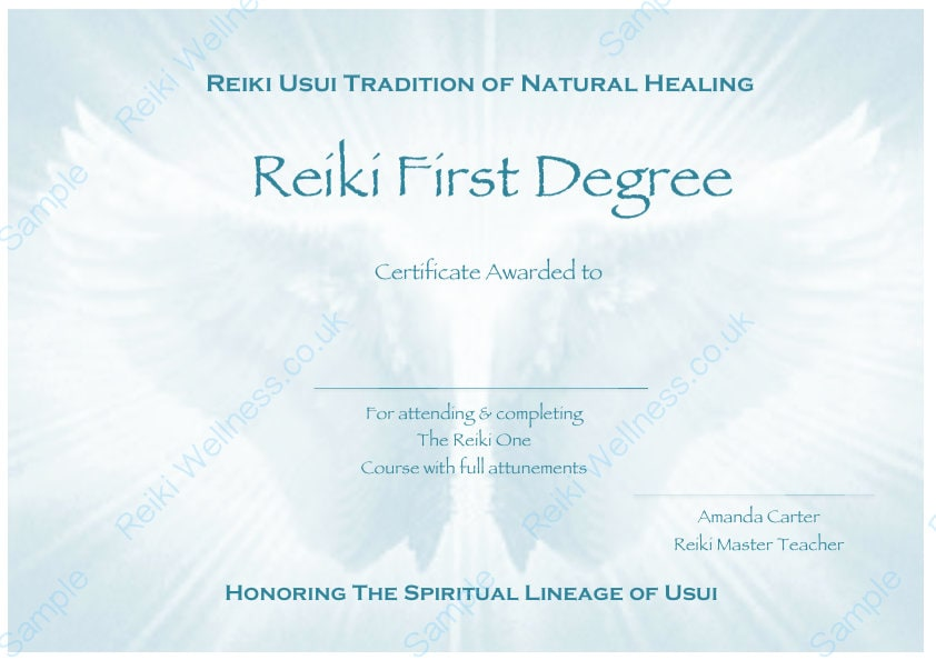 Personalised complete set reiki certificate templates x4 zoom yelopaper Image collections